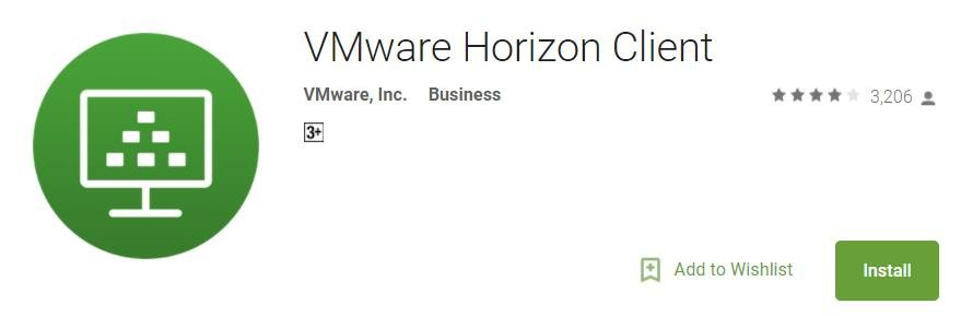 Top 5 Android Mobile App for VMware Administrators_Horizon client