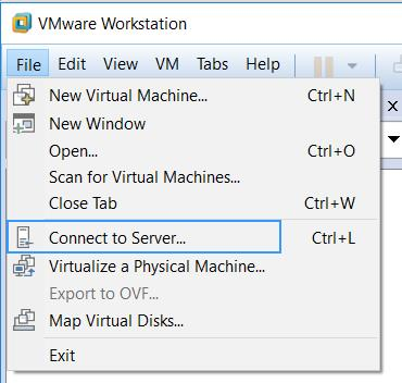 How to Manage VMWare ESXi hosts and Virtual Machines using VMware Workstation