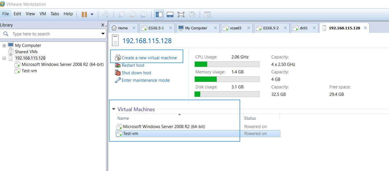 Manage ESXi hosts and Virtual Machines using VMware Workstation_3