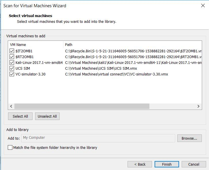 VMware Workstation 14 - Scan for Virtual Machines_1