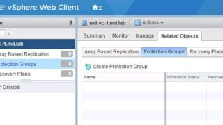 Create vSphere Replication based Protection Group in VMware SRM
