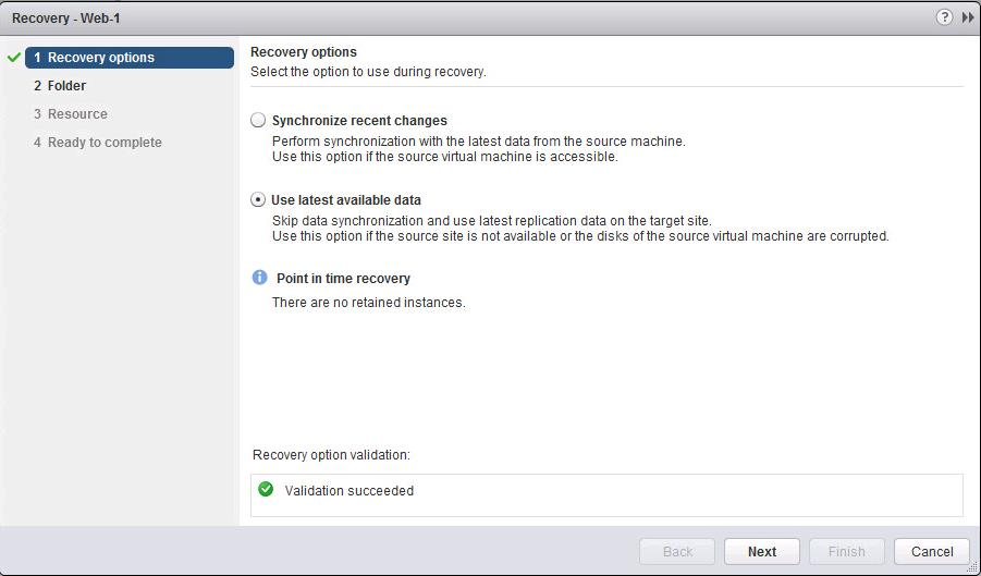 Perform Recovery of the Virtual Machine using vSphere Replication-2