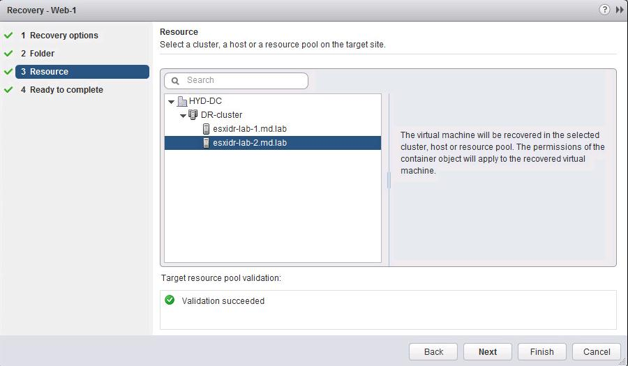 Perform Recovery of the Virtual Machine using vSphere Replication-4