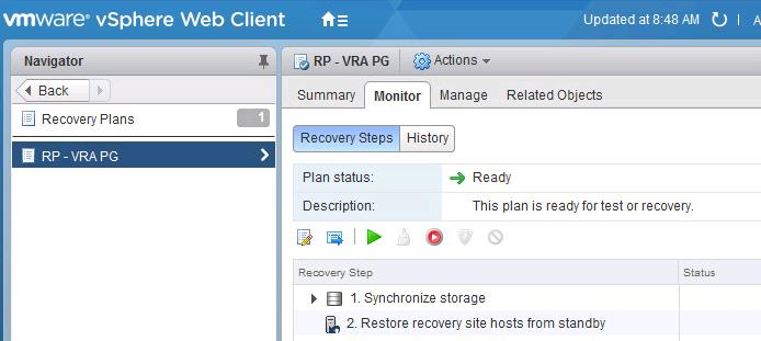Run Test Recovery Of Vsphere Replication Based Recovery Plan
