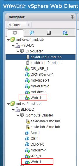 Test Recovery of vSphere replication based recovery plan