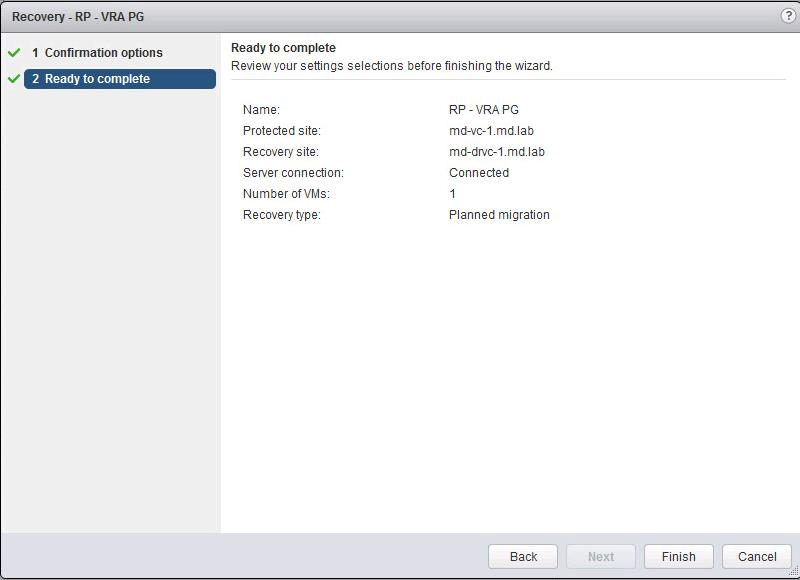 Perform Failover of vSphere replication based SRM recovery plan-3