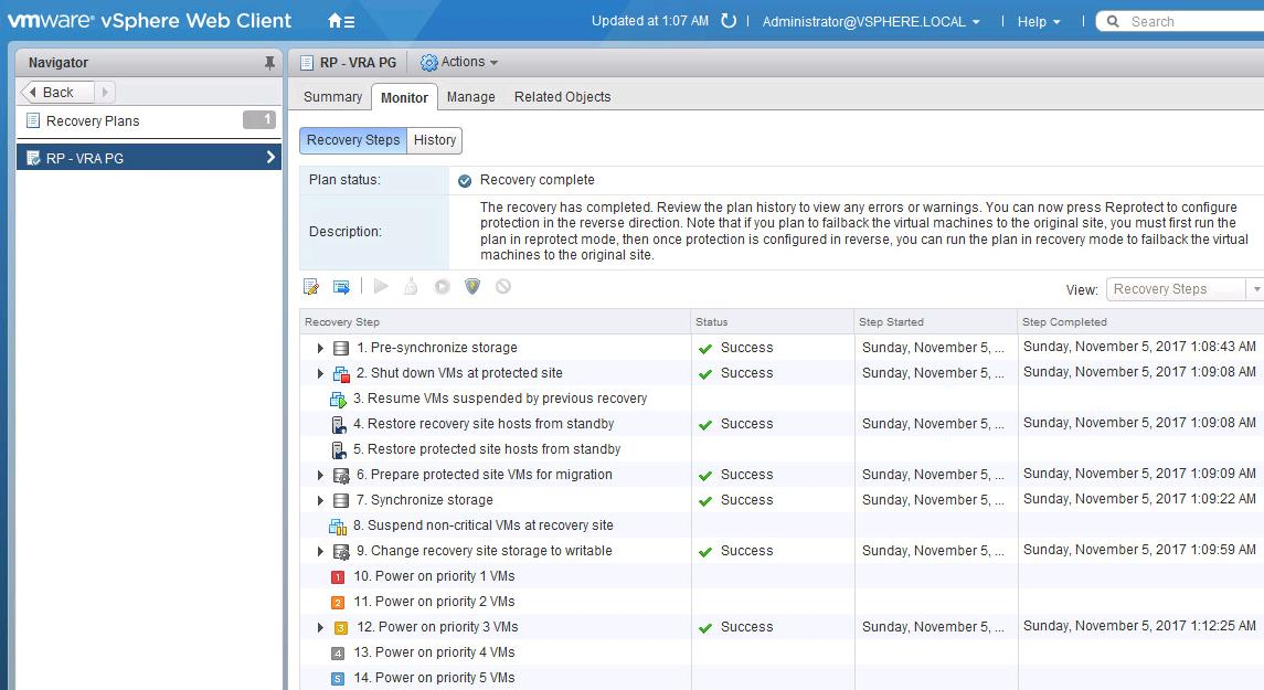 Perform Failover of vSphere replication based SRM recovery plan-5