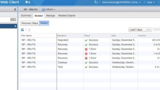 Export VMware SRM Recovery Plan History