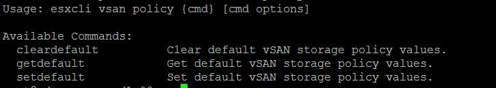 Manage VMware VSAN using ESXCLI VSAN command