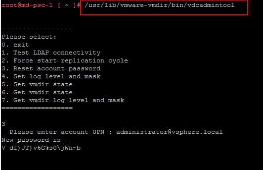 How to Reset vCenter SSO password for VCSA Appliance