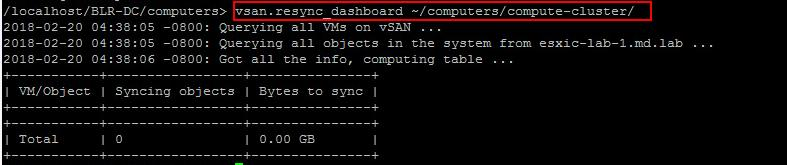 Manage vSAN Cluster with RVC commands