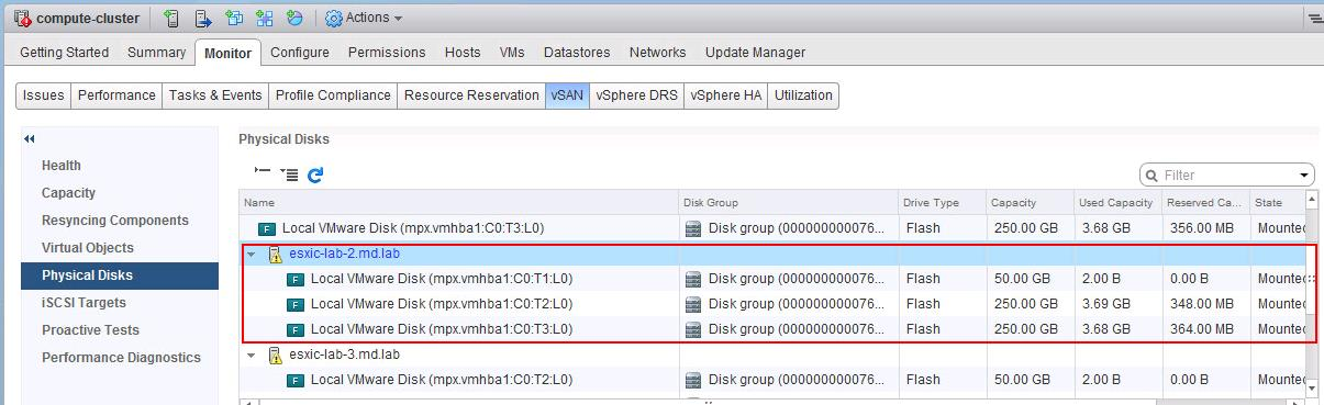 Query disks for VSAN eligibility vdq command