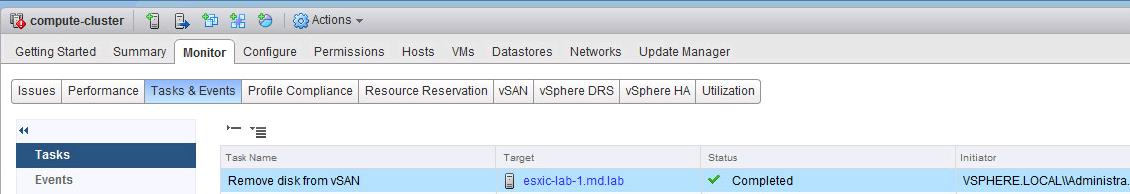 How to Remove Capacity disk from VSAN Disk Group